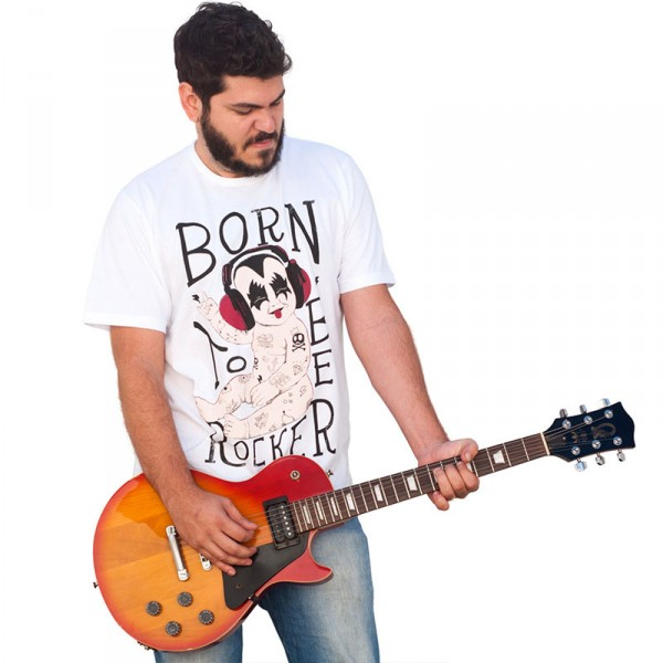 Camiseta Masculina: Born to be Rocker