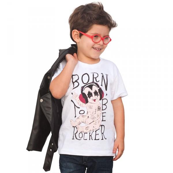Camiseta Infantil: Born to be Rocker