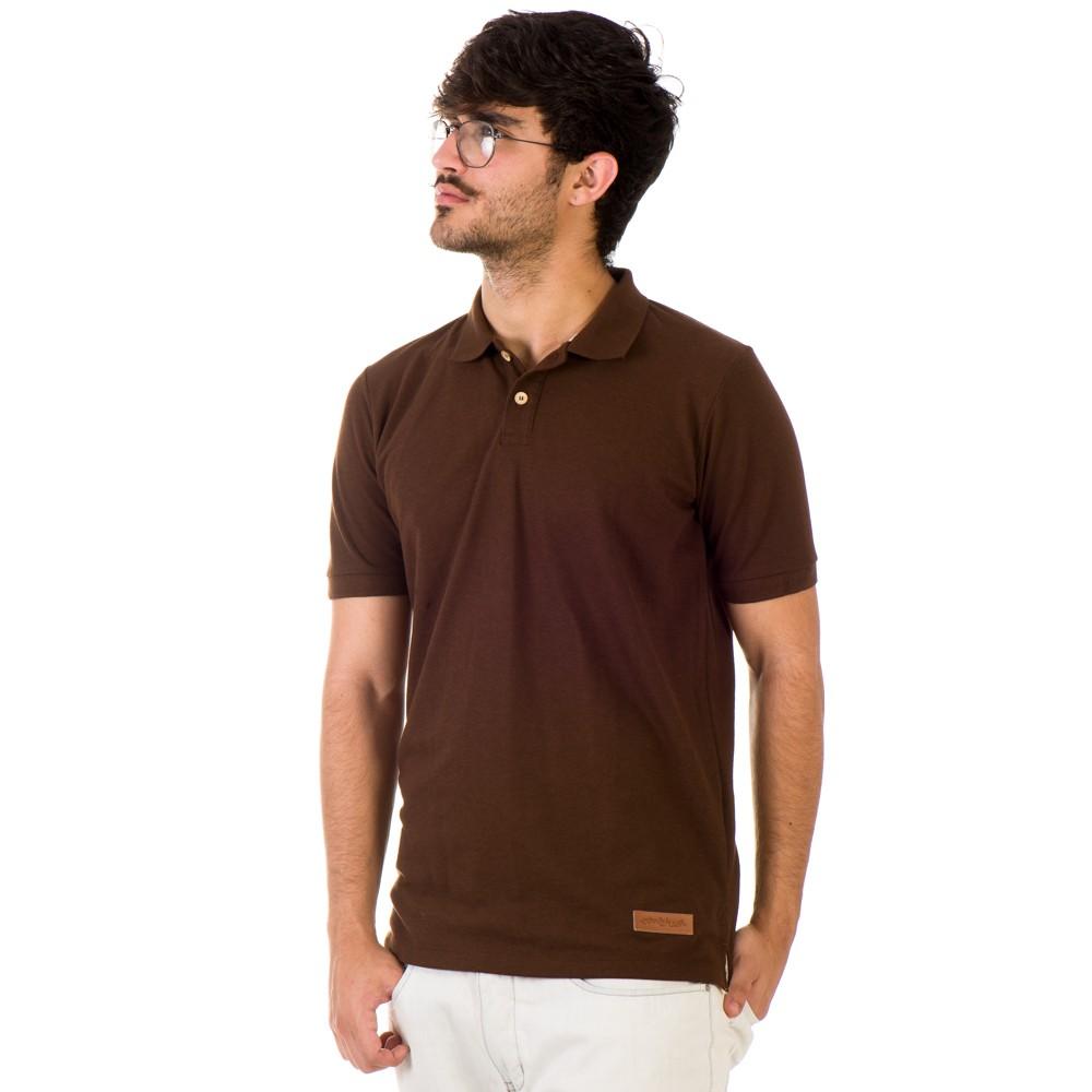 Camiseta Pólo Minimal Marrom