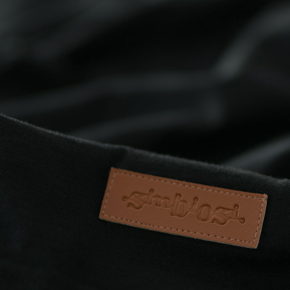 t-shirt minimal flamê preto